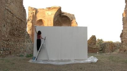 Penelope\'s White Wall  - a Performance Artowrk by Maria Luigia Gioffre