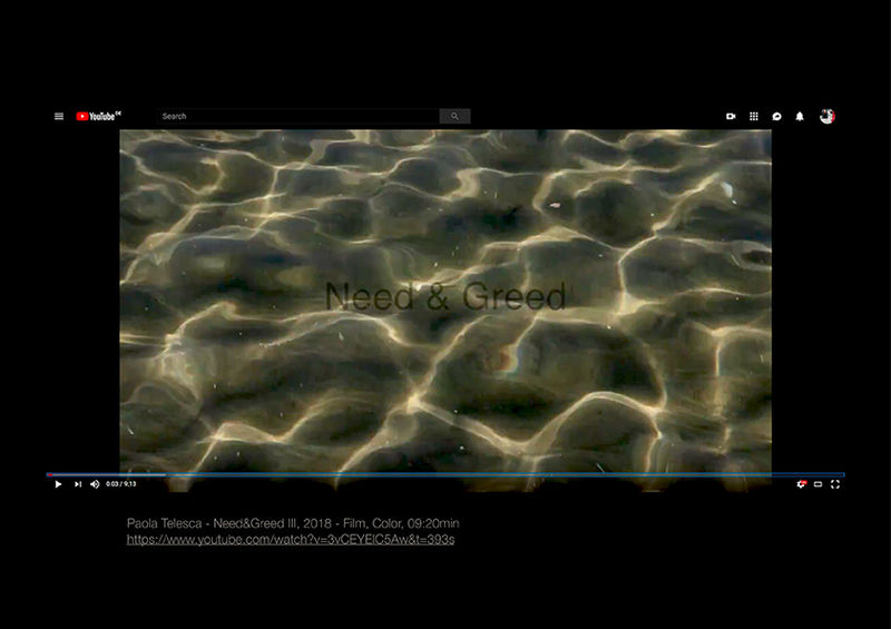 Need and Greed III - a Video Art by Paola Telesca