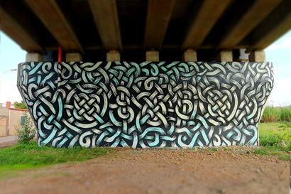 Trame - a Urban Art Artowrk by francesco virdis