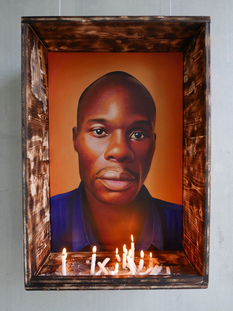 Tribute to David Kato, LGBT rights activist murdered January 26, 2011 in Uganda - a Paint by Gilles DUSABE
