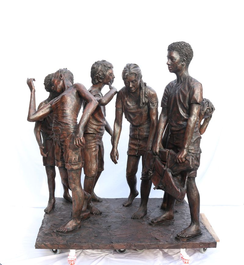 The Children of Calais - a Sculpture & Installation by Ian Wolter