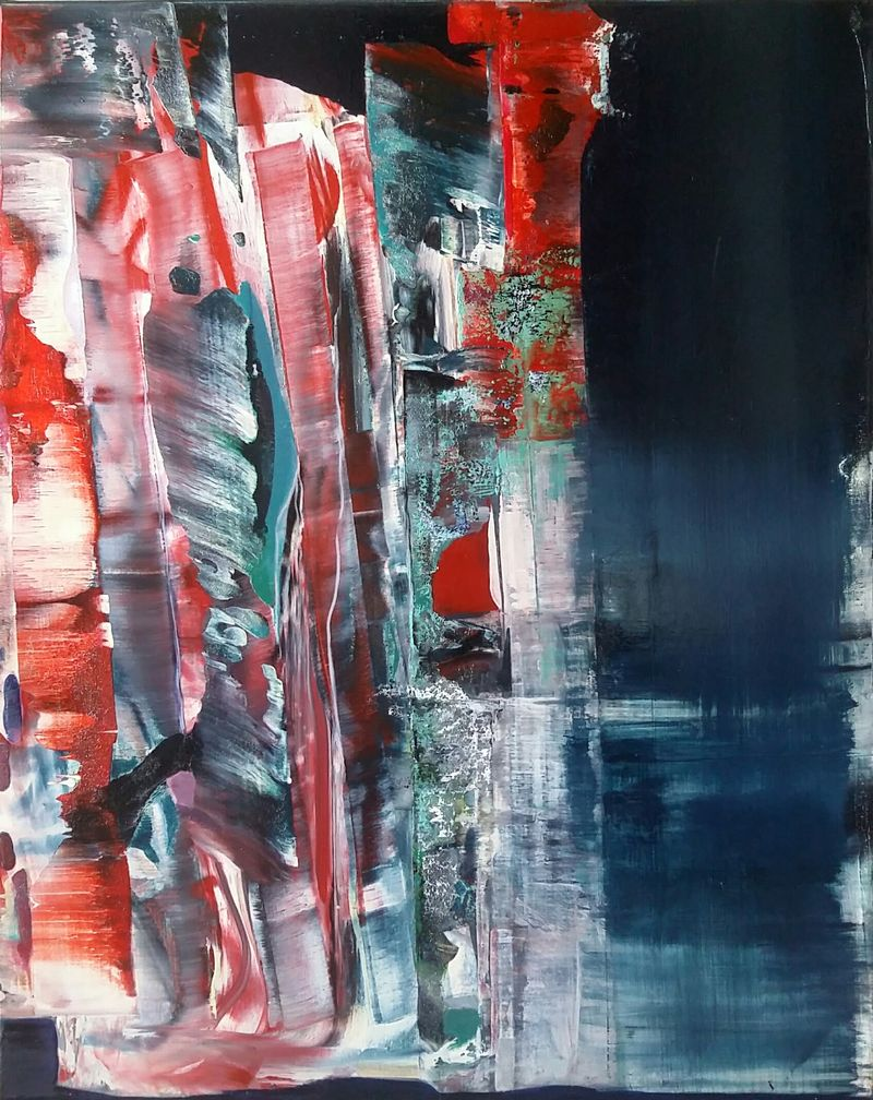 Edge of the forest in Red - a Paint by Agnes Ennemoser