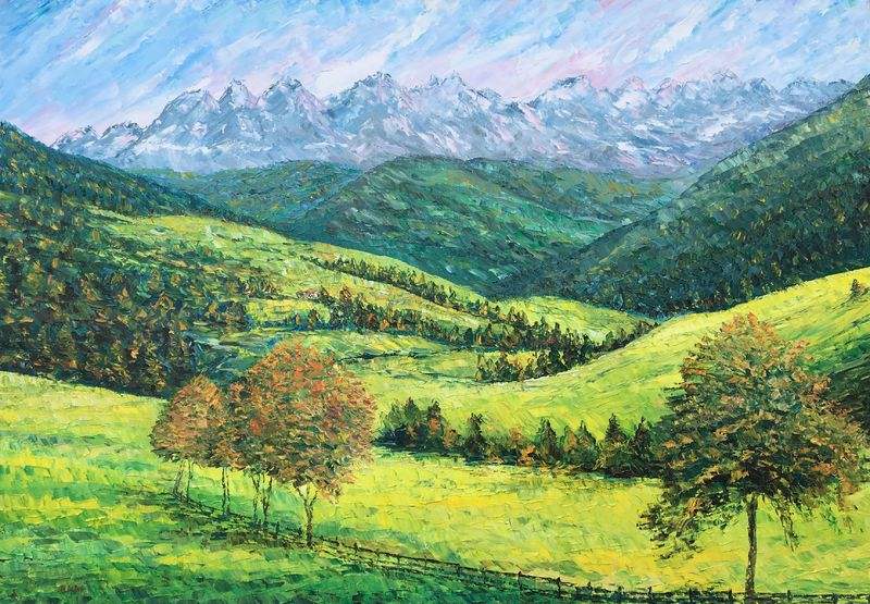 Viaggio in Trentino-Alto Adige - a Paint by Angelo Di Dio