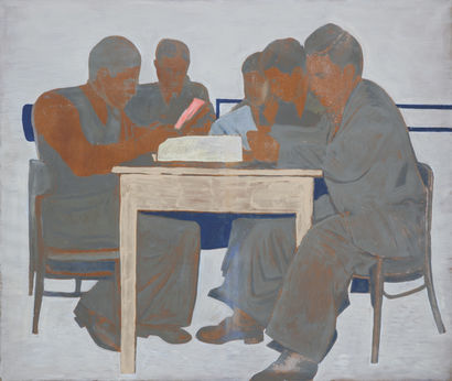 By the table - A Paint Artwork by Andrzej Cisowski
