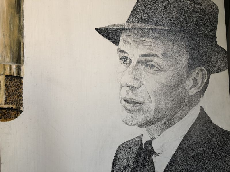 Frank Sinatra  - a Paint by Maria Gordovich