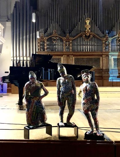 Three Warriors - a Sculpture & Installation Artowrk by DuminDa