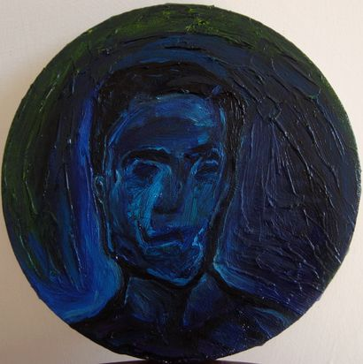Blue Self-portrait - A Paint Artwork by Lorenzo Campetella
