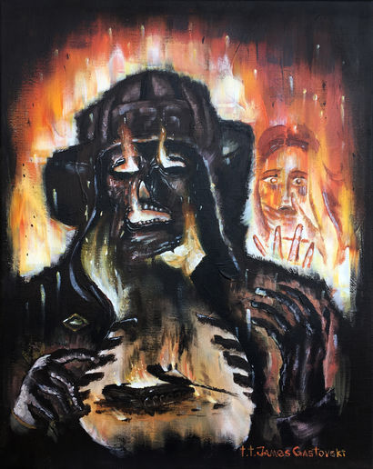 Perish In Flames - a Paint Artowrk by T.T. James Gastovski