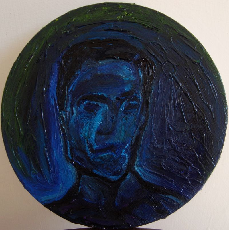 Blue Self-portrait - a Paint by Lorenzo Campetella