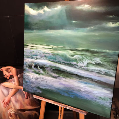 Luce sul Mare - A Paint Artwork by Paola Nardella