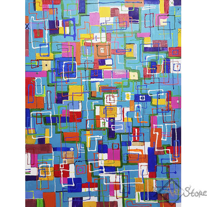 Urban living 4x - A Paint Artwork by Alexandra Knabengof