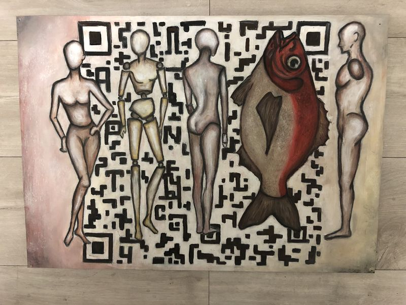 Fish QR code - a Paint by Viki_iki_tory