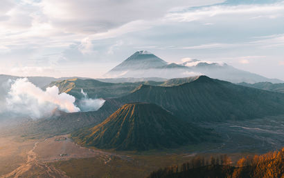 Sunrise over Bromo volcano - Indonesia - a Photographic Art Artowrk by Nicolas Jehly