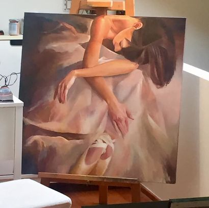 Ballerina - A Paint Artwork by Paola Nardella