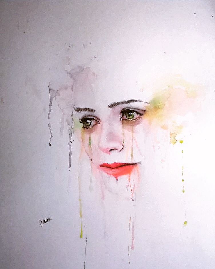 Cry - a Paint by Noemi Caferra