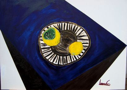 Two lemons - A Paint Artwork by Lorenzo Campetella