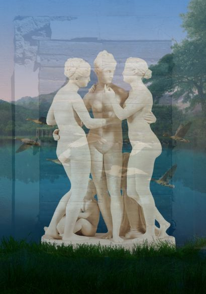 Three Graces - A Digital Graphics and Cartoon Artwork by Peter Arnell