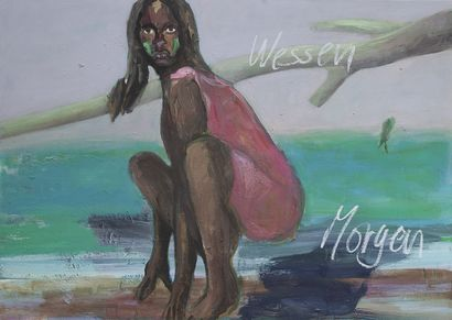 Wessen Morgen ist das Morgen ( Whoes tomorrow is tomorrow) - a Paint Artowrk by Eva Kunze
