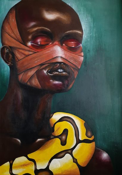 Bruised healing  - a Paint Artowrk by Thami Nqola