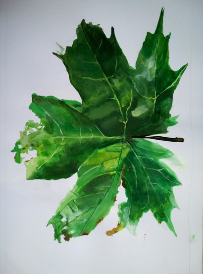 Leaf - A Paint Artwork by LAURA