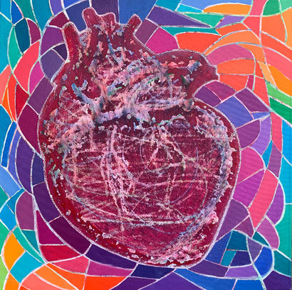 Piece of heArt #1 - a Paint Artowrk by Yana Bering