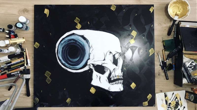 Lost in skull - a Paint by Bofa