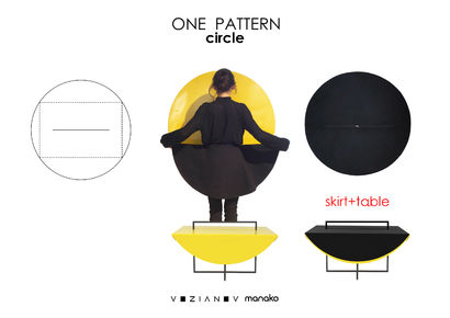 CIRCLE table - A Art Design Artwork by ONE PATTERN