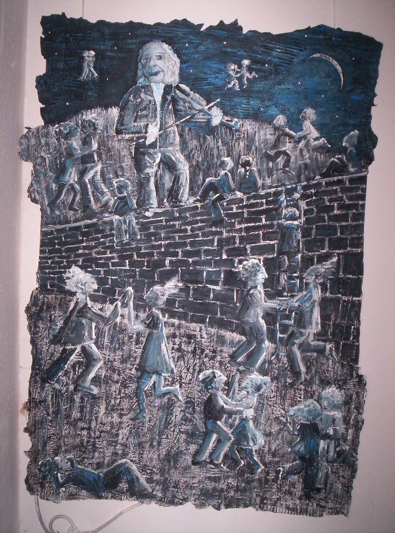 !At the walls in midnight - a Paint by Manuela Clarin