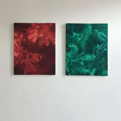 Red & Green - A Paint Artwork by Francesca Miotto
