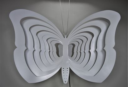 WHITE BUTTERFLY - A Design Artwork by Alessio Luca Bandini