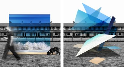 Horizon and scattered perspectived - a Digital Graphics and Cartoon Artowrk by Joyce Menger