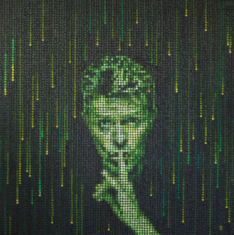 Shush - Bowie in the Matrix - a Paint by Ax