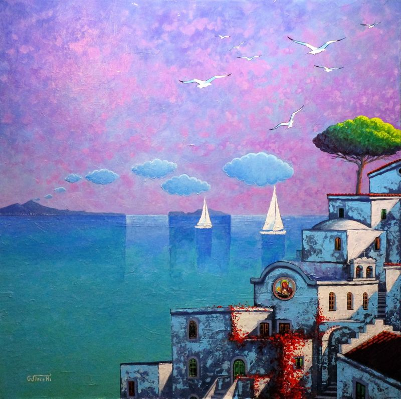Fantasie d'Ischia 03 - a Paint by Giuseppe Sticchi