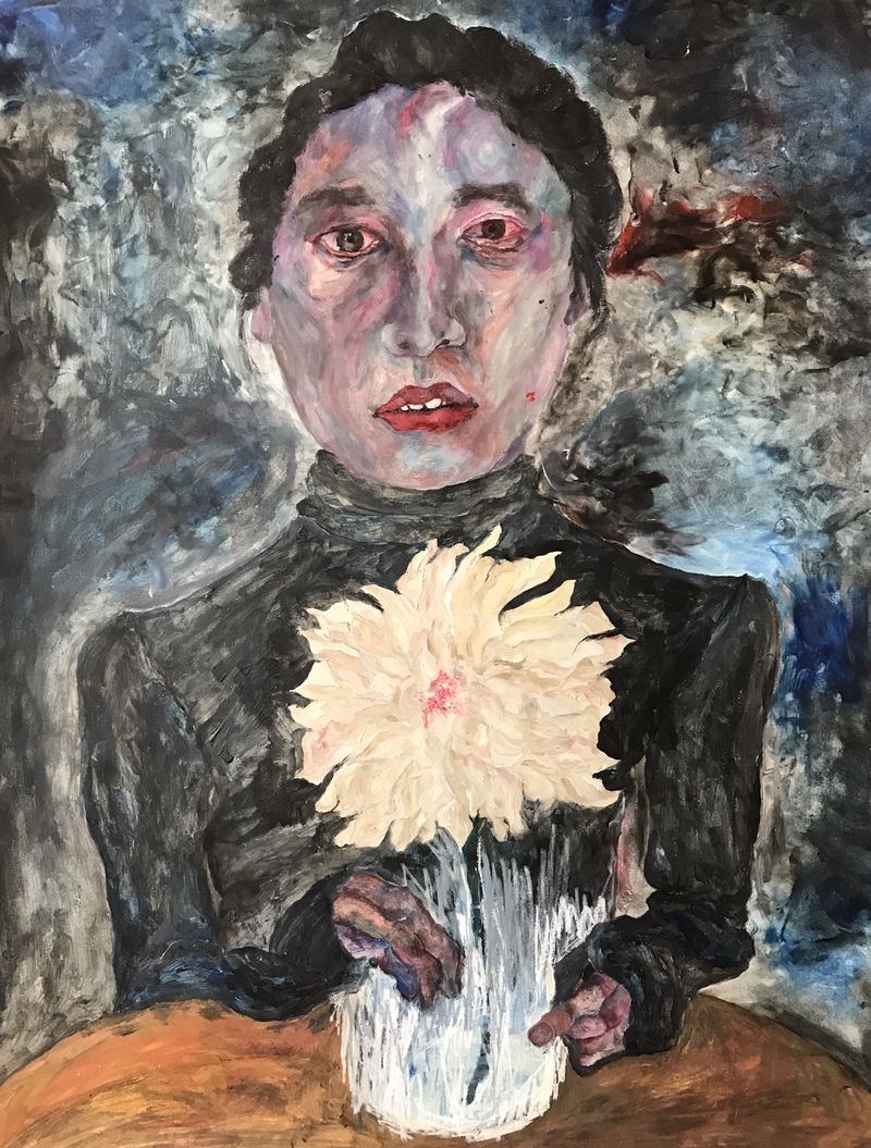 3. Sister and the flower - a Paint by Mareh LEE