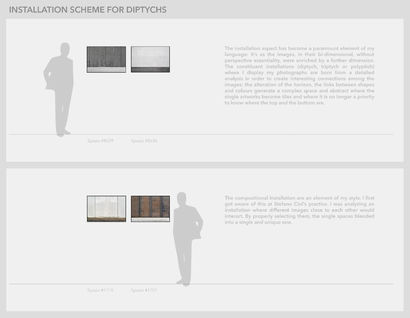 Installation scheme for diptychs - A Photographic Art Artwork by maurizio ciancia