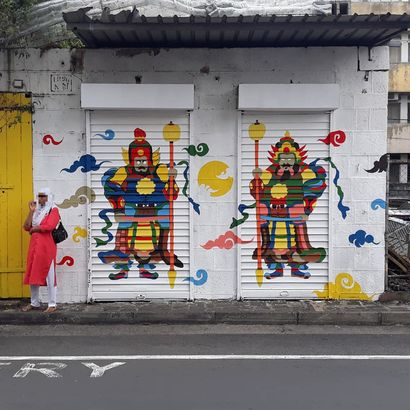 Guardians of Chinatown - a Urban Art Artowrk by Nitish  Chendrapaty-Appadoo