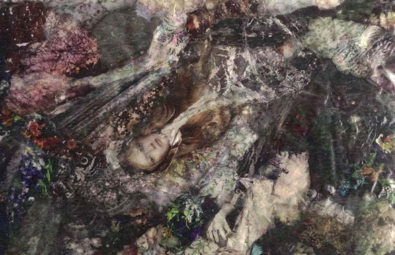 OPHELIA 9: Facing you, my Death - a Paint by Valérie Josef