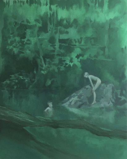 Green Hole - A Paint Artwork by Francesca Miotto