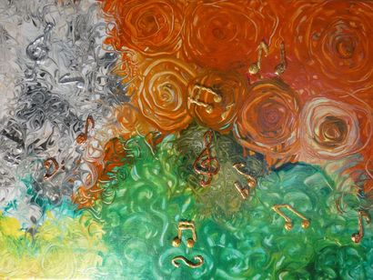 Music of flowers - a Paint Artowrk by Tatyana Amantis