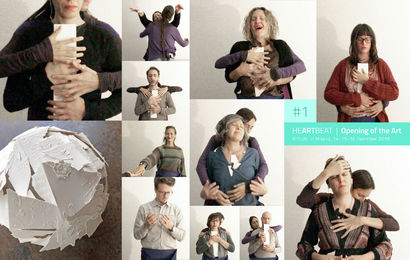 The heARTbeat - Multiple Collective Work of Art - a Performance Artowrk by heARTist