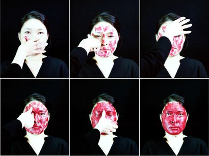 Knotting Face - a Video Art Artowrk by Heesoo Agnes Kim