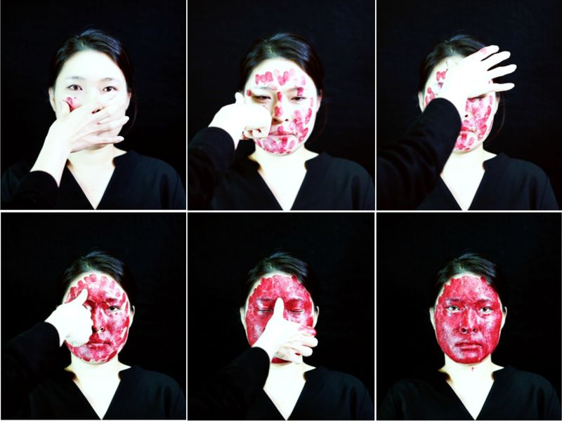 Knotting Face - a Video Art by Heesoo Agnes Kim