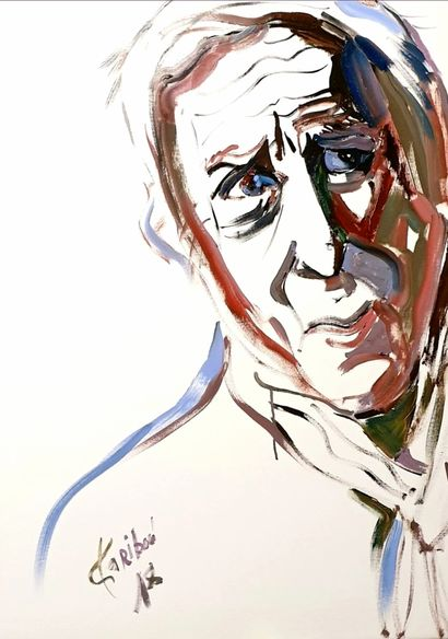 Charles bel hommage portrait of an old man  - A Paint Artwork by Karibou