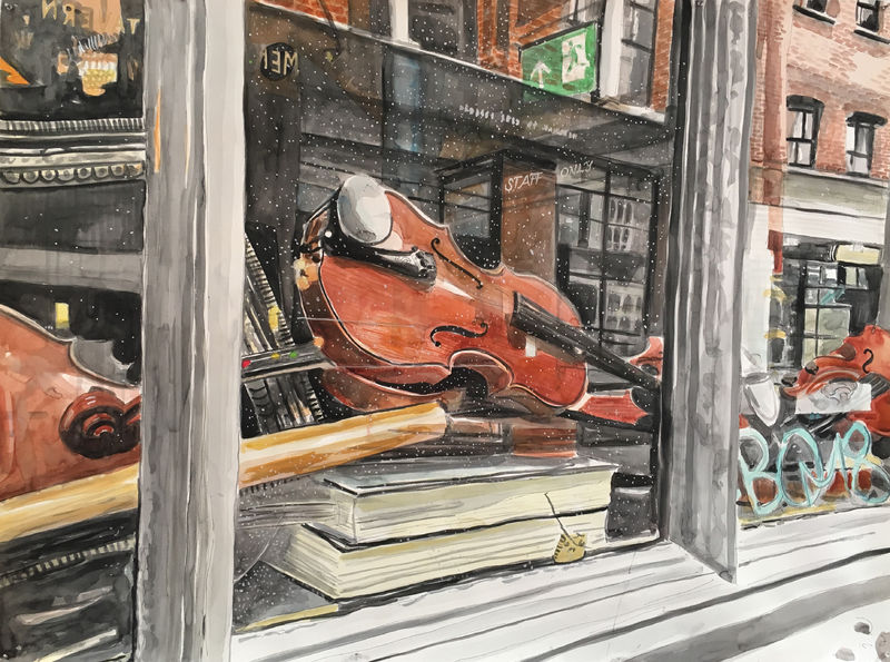 Inside/Outside: London (Violins) - a Paint by Meridith McNeal