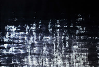 Black Lake [Schwarzsee, Canton of Fribourg, Switzerland]  2018 - a Paint Artowrk by Thelma Pott