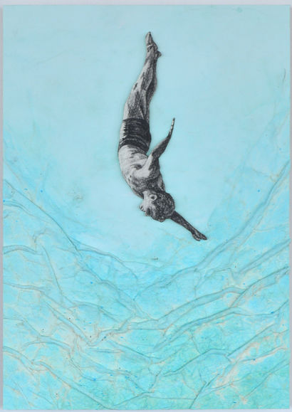 Diver - A Paint Artwork by Sergio Zapata