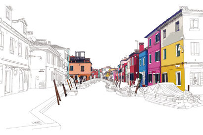 BURANO - A Digital Graphics Artwork by REYT Philippe