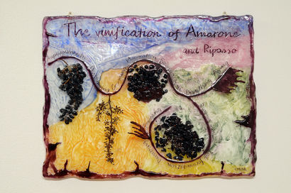 Winemaking scheme - Amarone - A Paint Artwork by Emanuele Marchesini