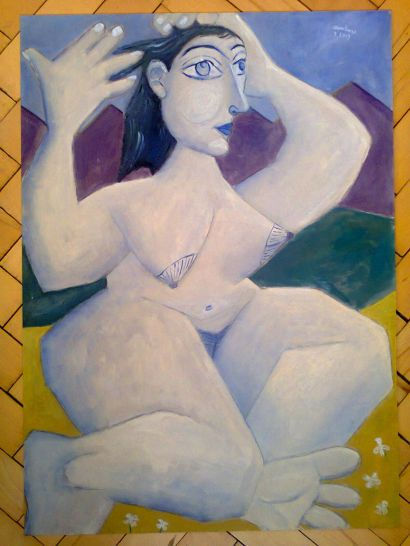 Landscape. Nude. NAME OF THE WORK: Pandora`s box. CRYPTOTitle: HN19-BIIIN11di - a Paint Artowrk by varhavala