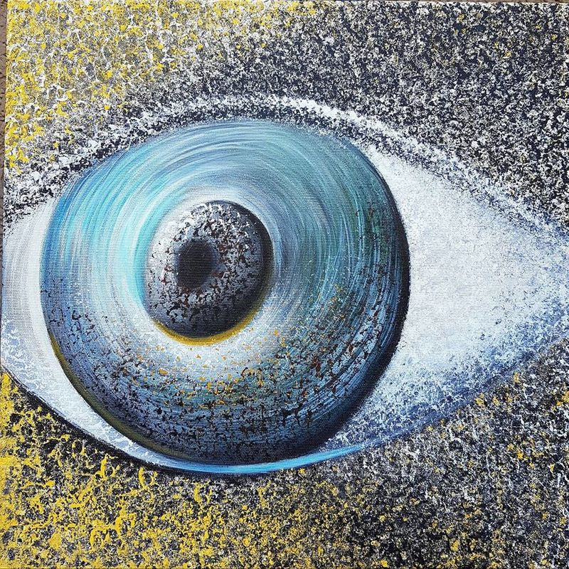 The Eye - a Paint by Cristiana Catuneanu